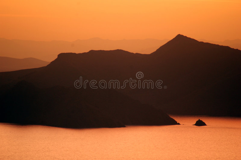 2 sunset titicaca jezior zdjęcia royalty free