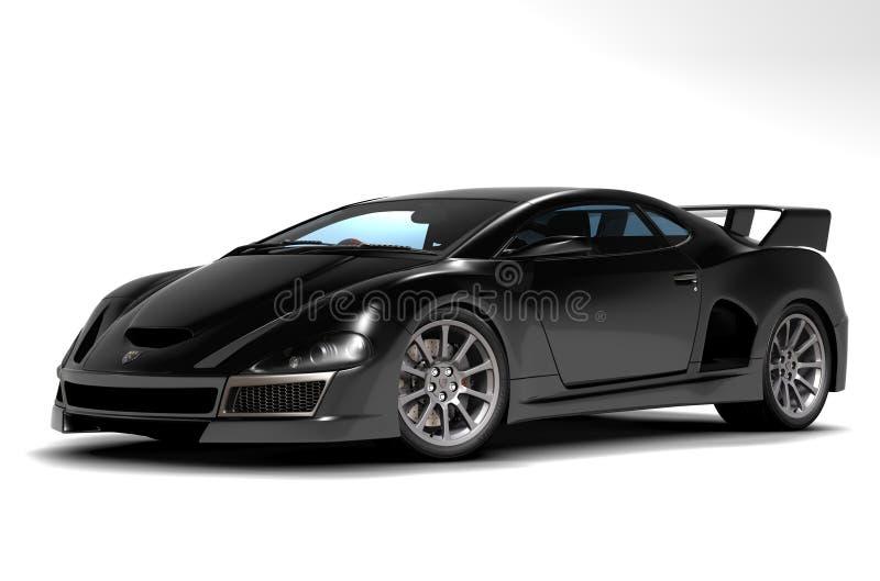 2 svarta bilsportar stock illustrationer