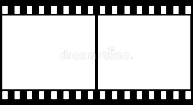 2 svarta plana bilder vektor illustrationer