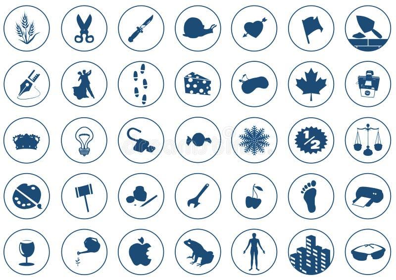 2 symboler vektor illustrationer