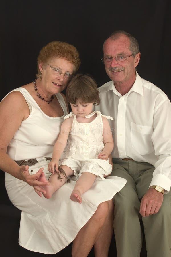 2 szczęśliwe dziadka fotografia stock
