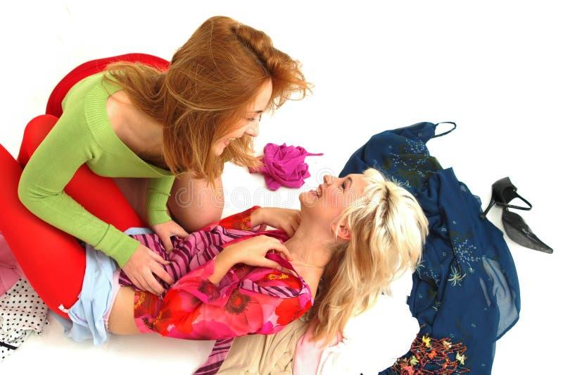 2 szczęśliwe kolorowego nastolatków obrazy royalty free