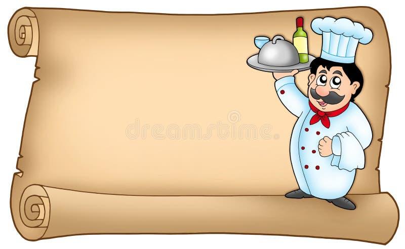 2 szef kuchni ślimacznica ilustracji