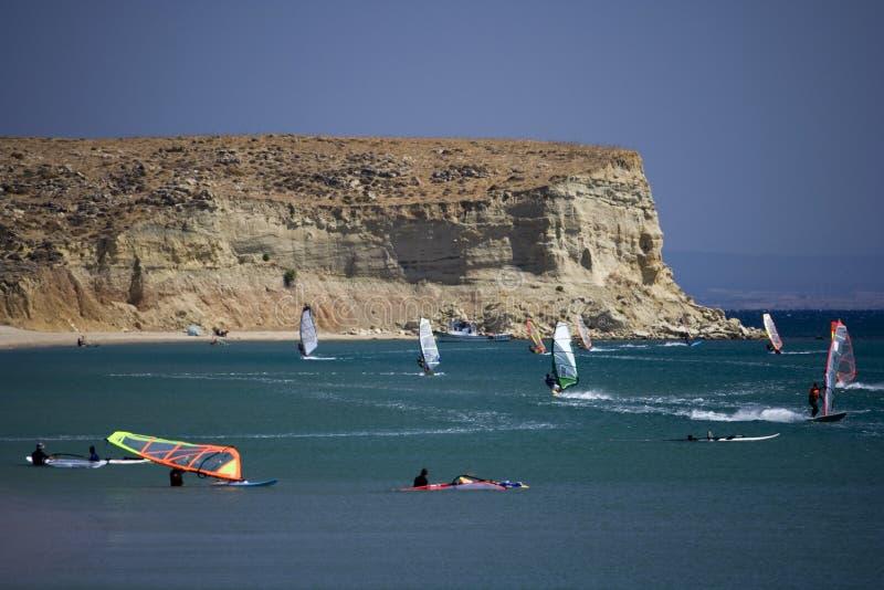 2 szkoła windsurf obraz royalty free
