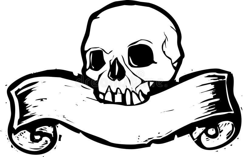 2 sztandarów czaszka ilustracji