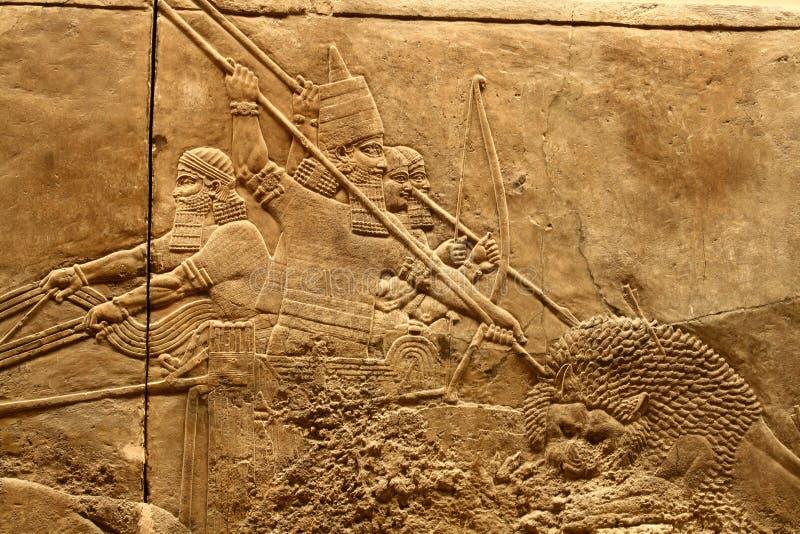 2 sztuki acient assyrian zdjęcia stock