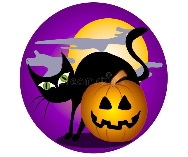 2 sztuki clip czarnego kota, Halloween. ilustracji