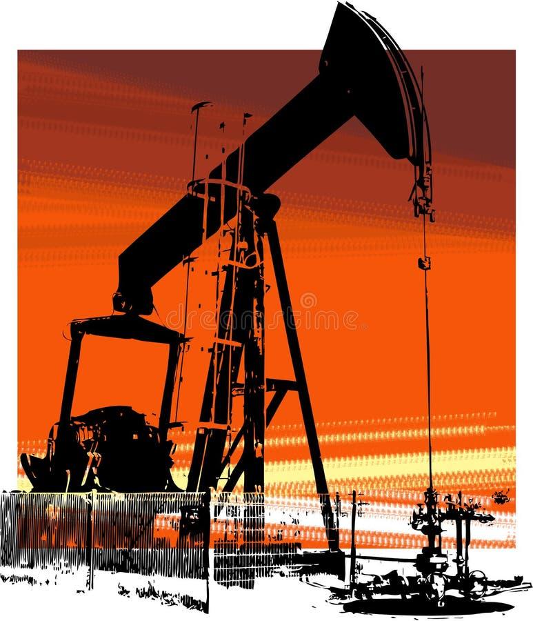 2 szyb naftowy royalty ilustracja