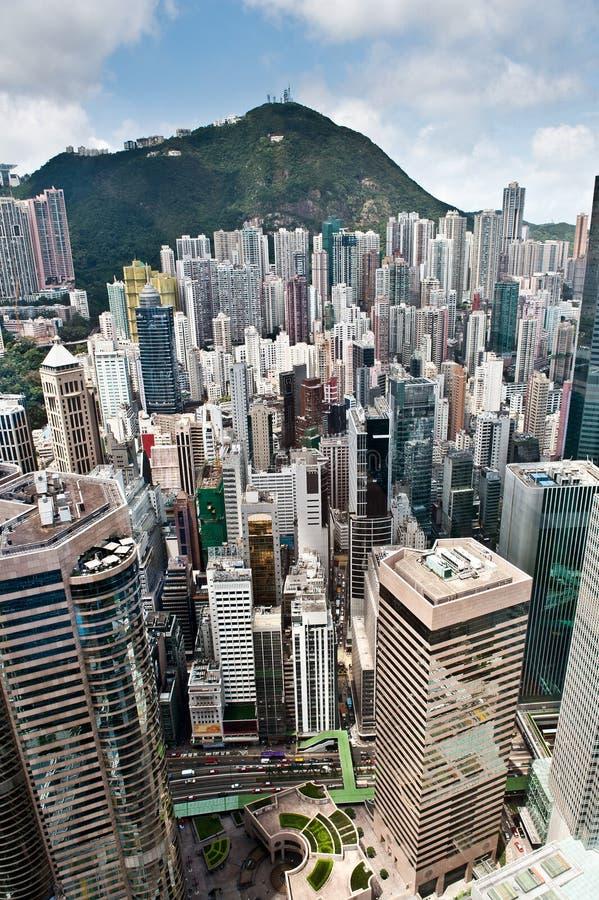 2 tätt befolkade Hong Kong arkivbild