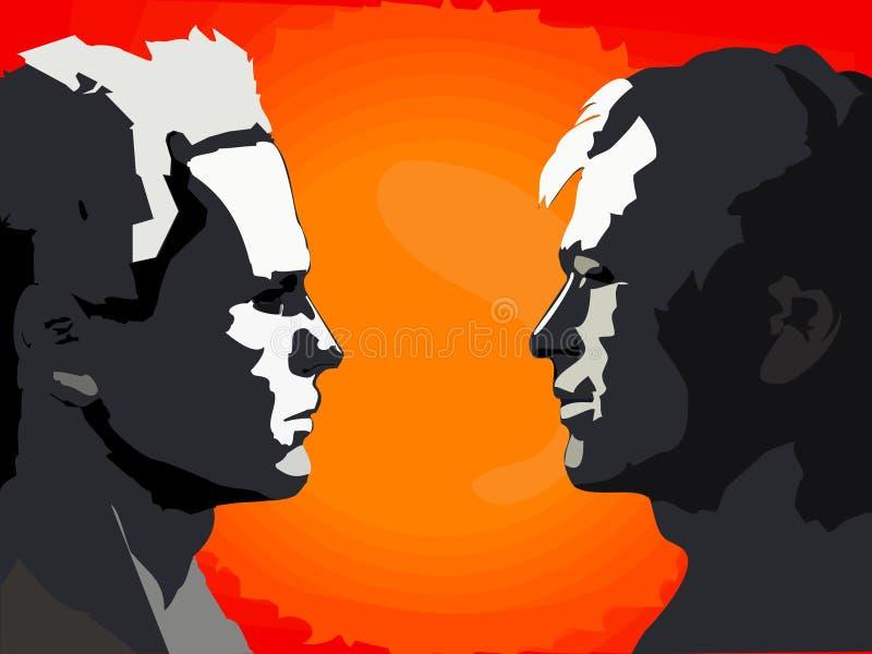 2 tête à tête illustration libre de droits