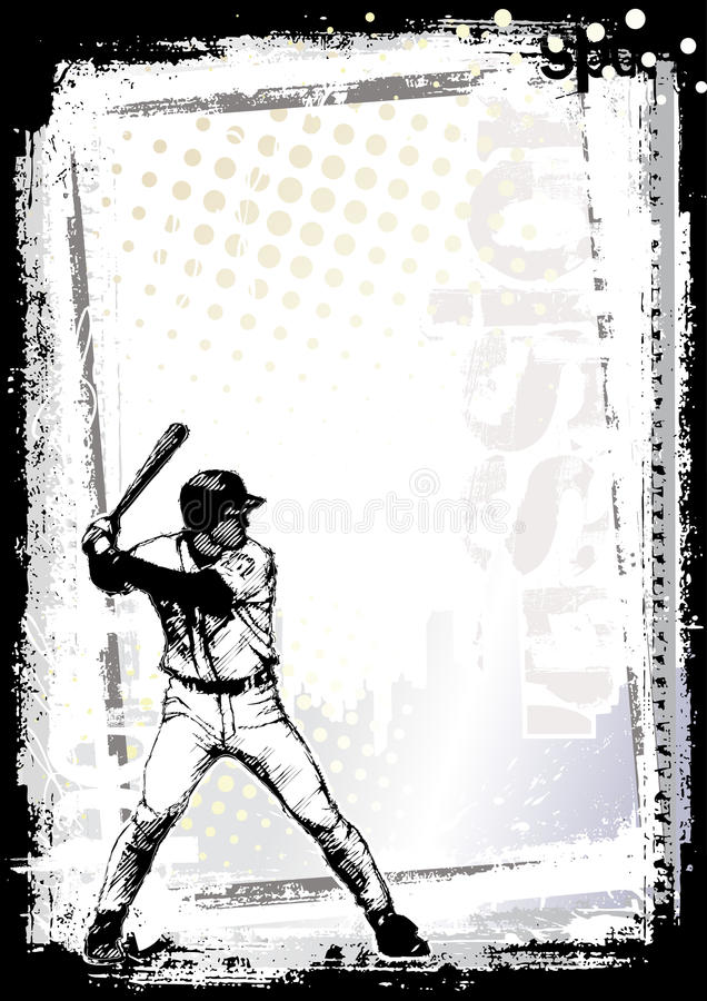 2 tło baseball ilustracja wektor