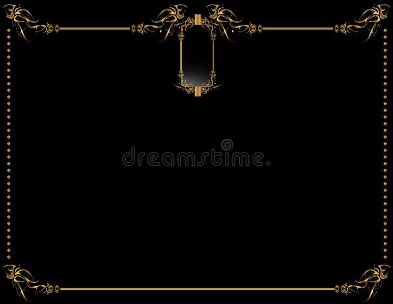 2 tło czarny elegancki złoto ilustracja wektor