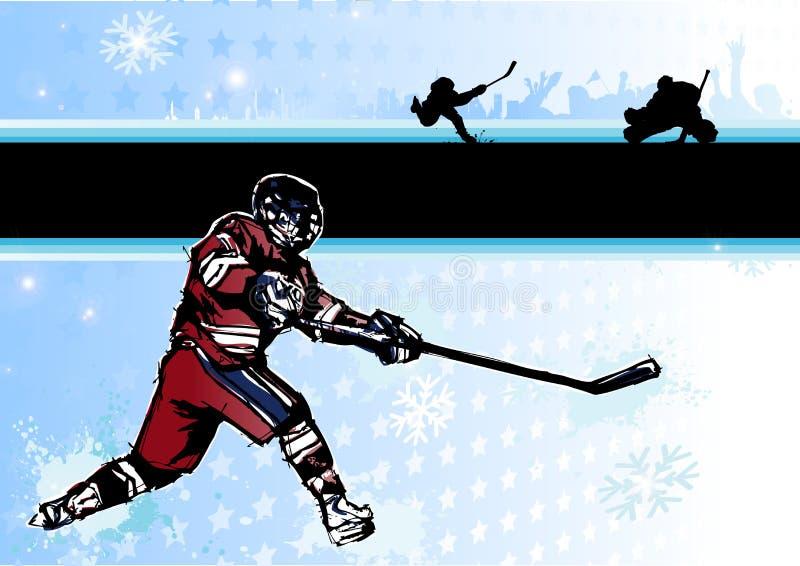 2 tło hokeja lód ilustracja wektor