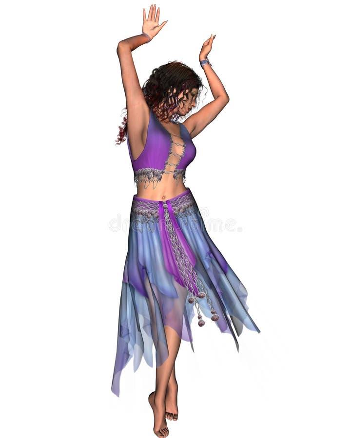 2 tańcząca dziewczyna ilustracja wektor