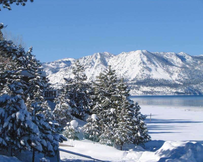 2 Tahoe湖冬天 库存图片