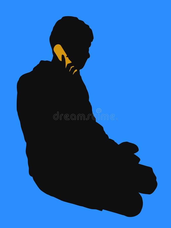 2 telefon royalty ilustracja