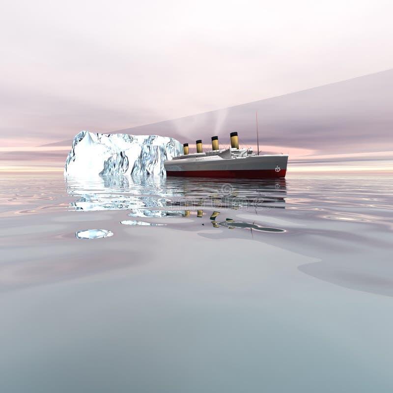 2 titanici illustrazione vettoriale