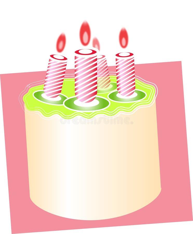 2 tort urodzinowy. ilustracja wektor
