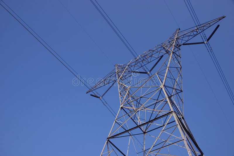 2 tower elektryczne fotografia stock