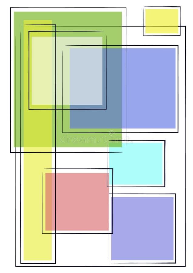 2 unika bakgrundsfyrkanter stock illustrationer