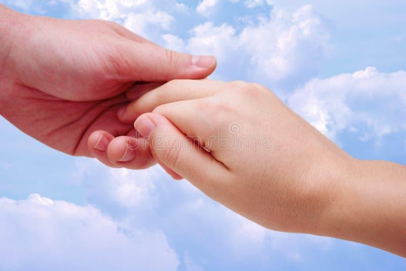 2 utrzymać rąk zdjęcia stock
