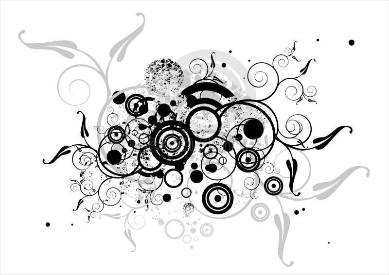2 uttryck blom- v stock illustrationer