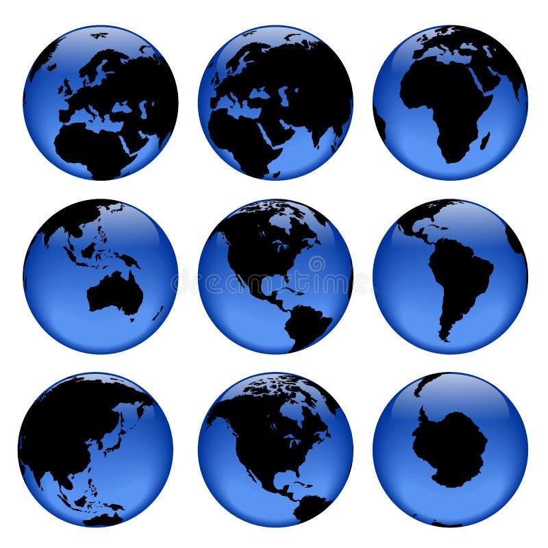 2 uwagi na globus ilustracja wektor