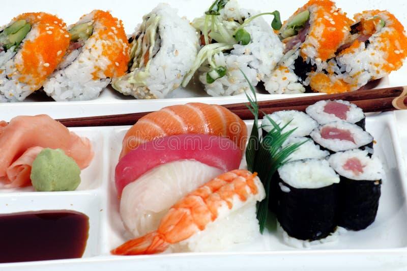 2 Walcowane Sushi Zdjęcia Royalty Free
