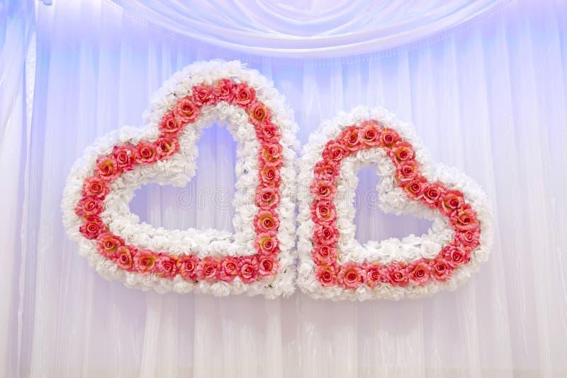 2 wedding сердца стоковое фото