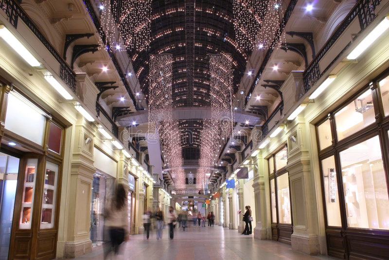 2 wnętrzy Moscow sklepu fotografia royalty free