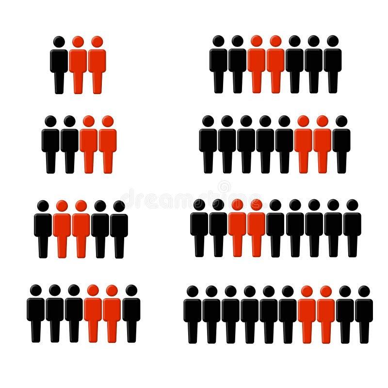 2 wszystkie kruczki statystyki royalty ilustracja