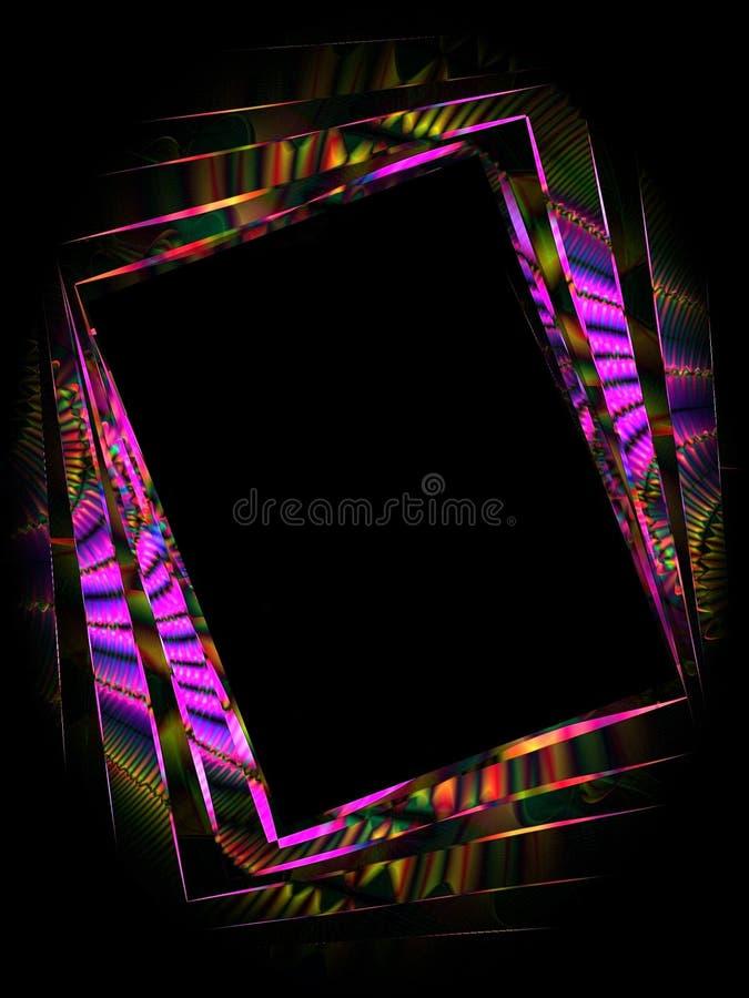 2 zdjęciu abstraktów zdjęcie ramowy ilustracja wektor