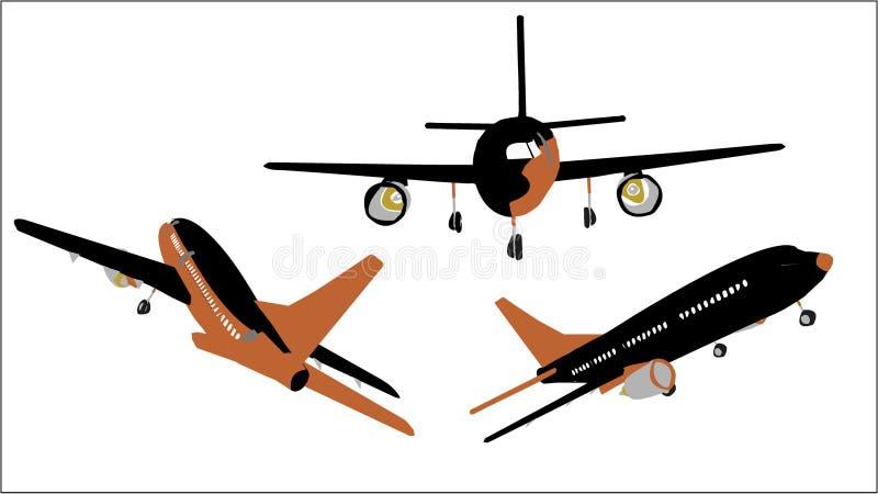2 zestaw samolotów royalty ilustracja