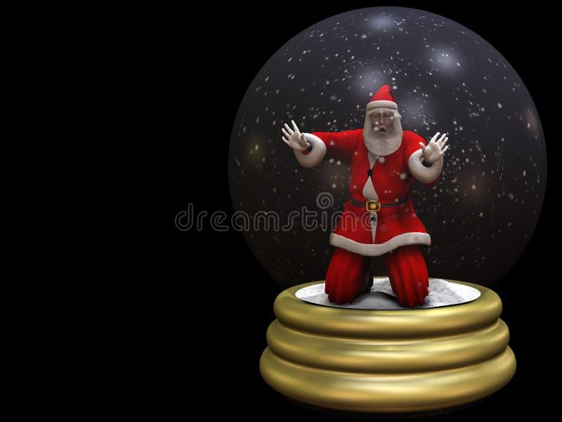2 ziemskich kul śniegu Mikołaja w pułapce ilustracji