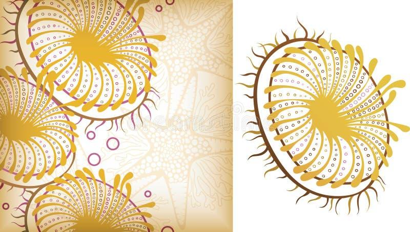 2 zwierząt morze ilustracja wektor