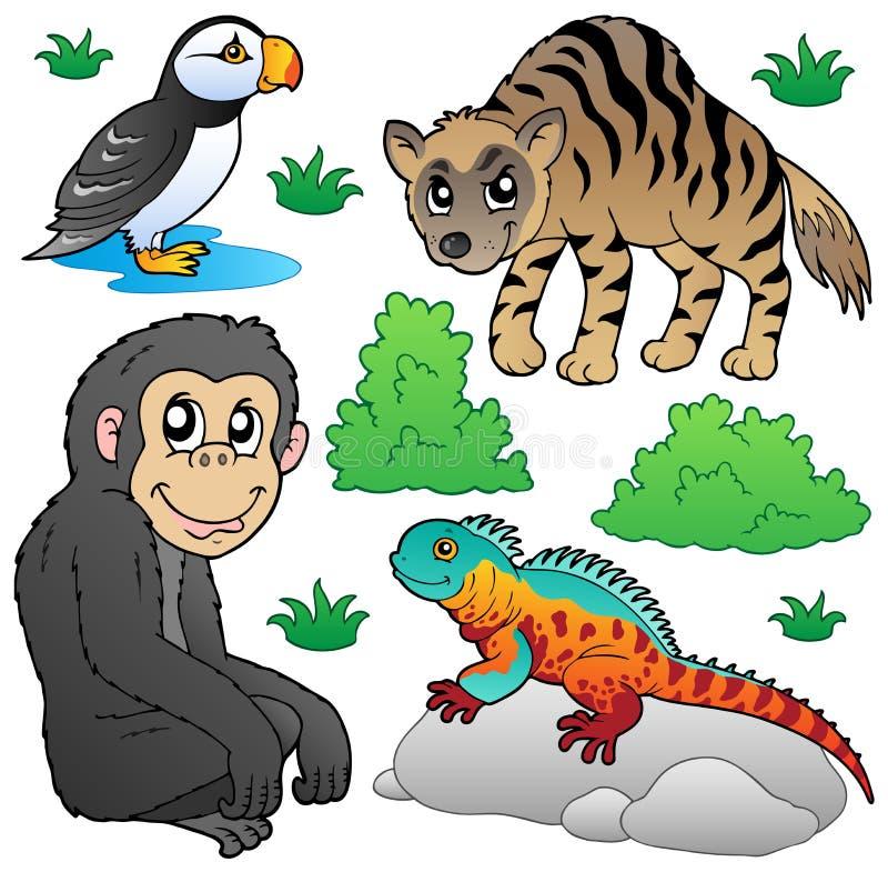 2 zwierzęcia ustawiają zoo ilustracji