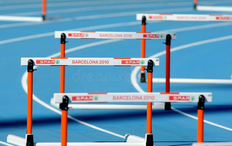 20ème Obstacles européens d'athlétisme photo stock