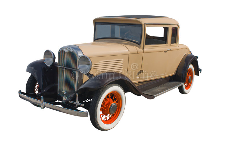 20世纪30年代小轿车棕褐色 库存图片