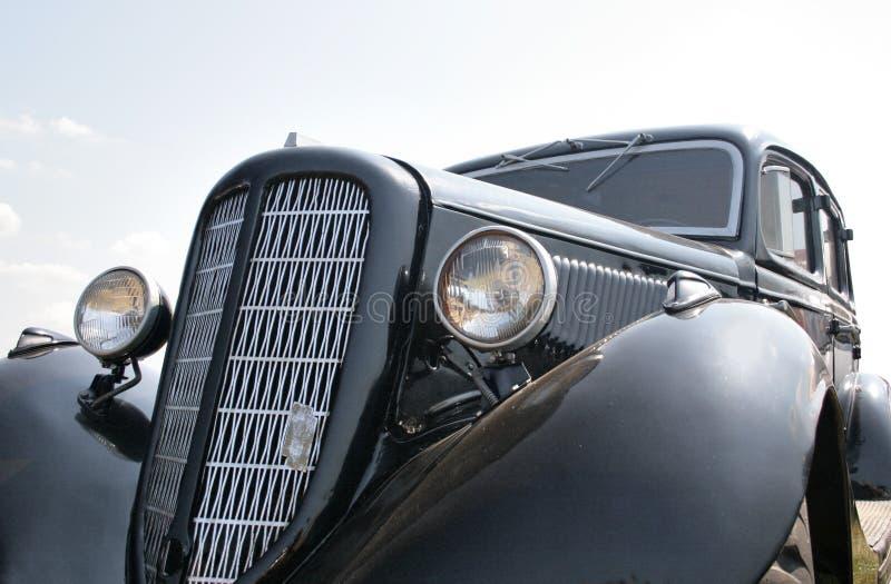 20世纪30年代黑色汽车 库存照片
