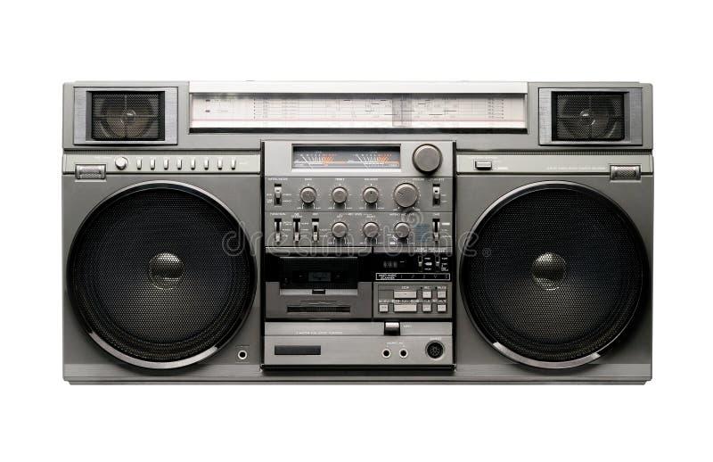 20世纪80年代boombox 图库摄影