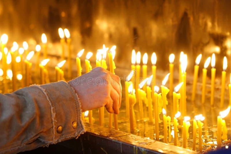 20个蜡烛 库存图片
