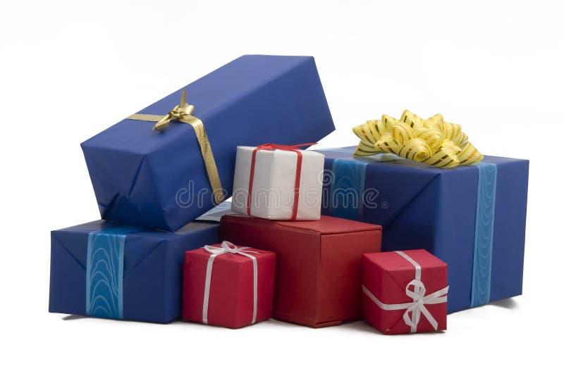 20个配件箱礼品 免版税图库摄影