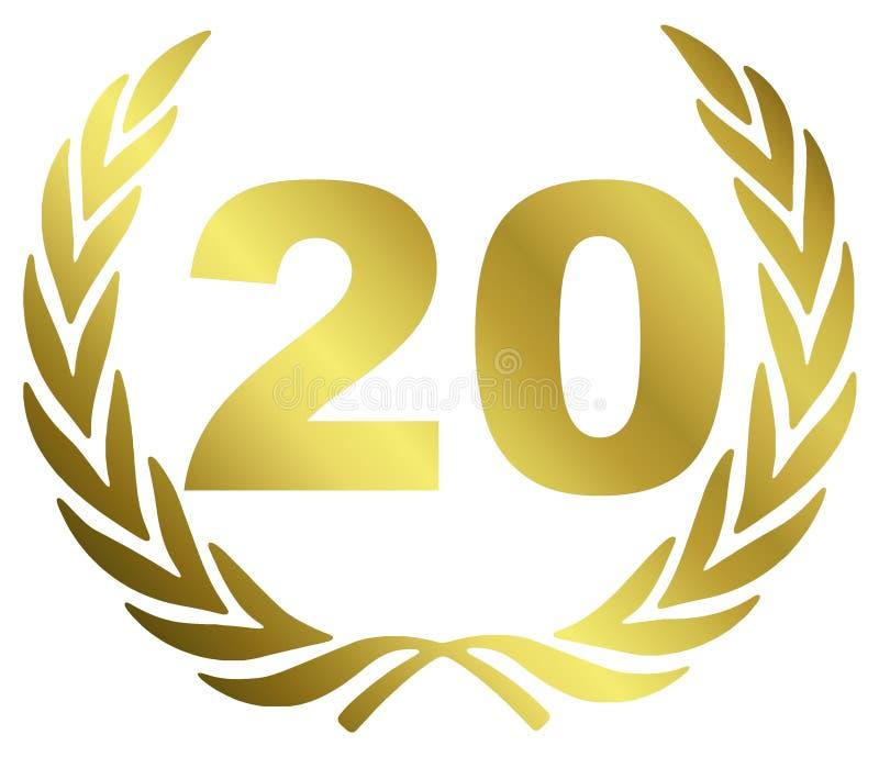 20周年纪念 库存例证