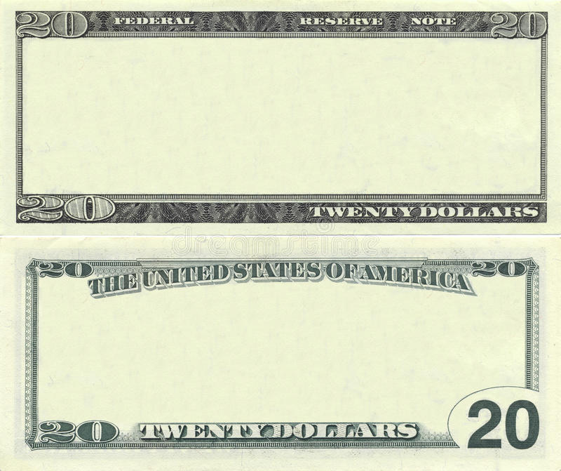 20张钞票清楚的美元模式 库存图片