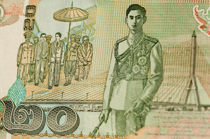 20铢钞票国王rama泰国viii 免版税图库摄影