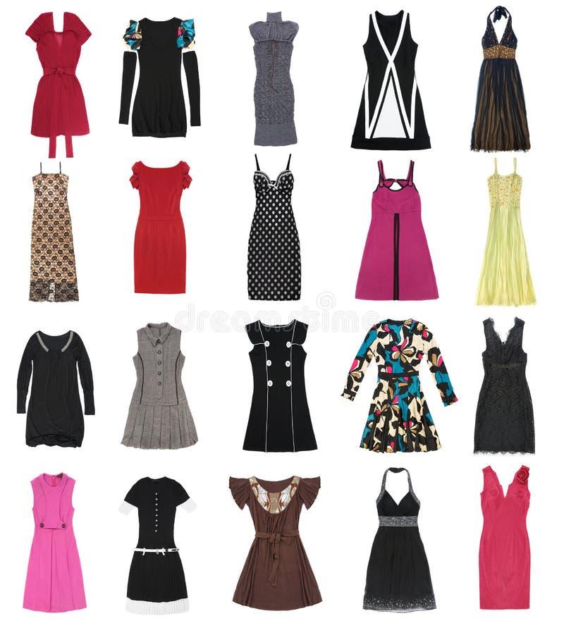20 частей женщины платьев стоковые фотографии rf