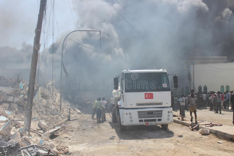 20_11_28_FIRE_ KM4_ IN_MOGADISHU-3 royalty free stock photography
