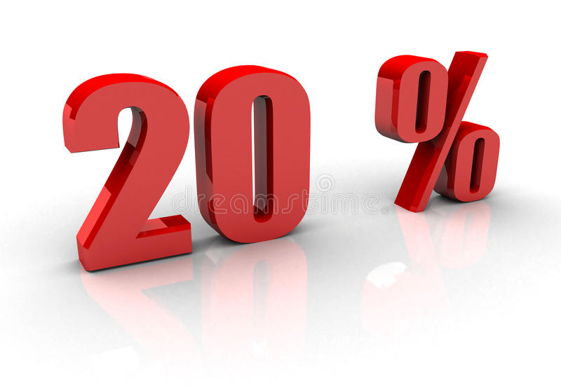 20% ilustracja wektor