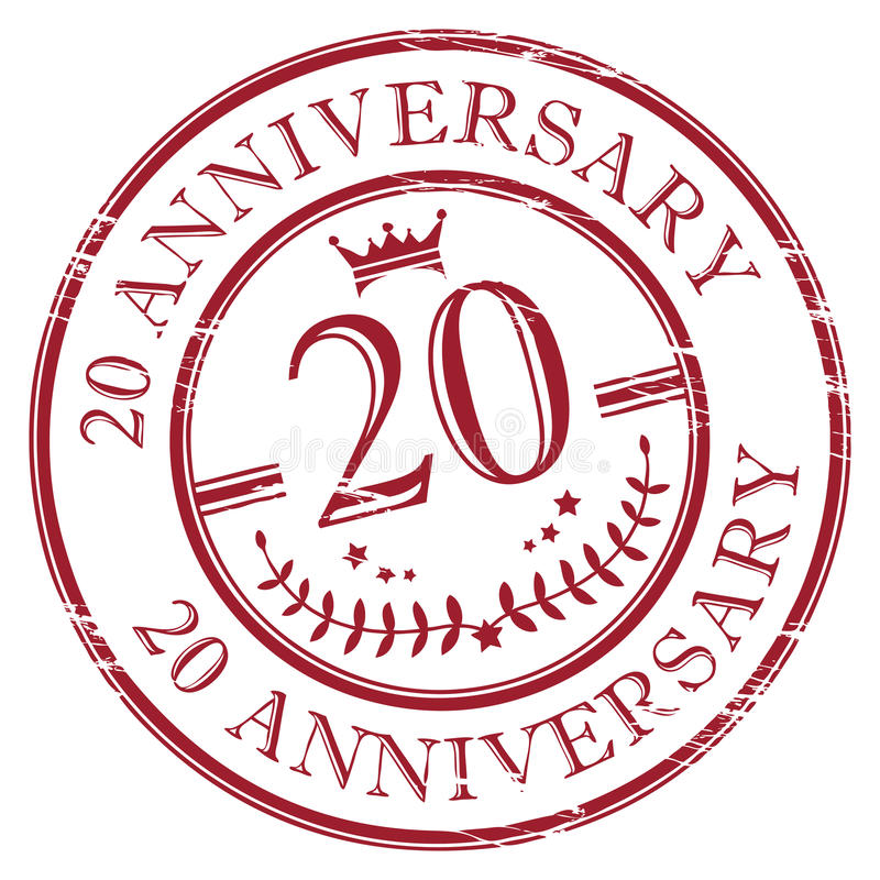 20 anniversary royalty free illustration