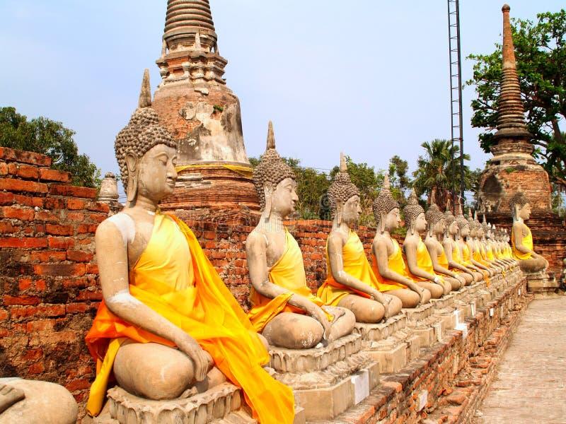 20 ayuthaya遗产watchaimongkol 免版税库存图片